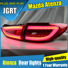 LED Rear Lights Assembly For Mazda 6 Dark / Red LED Tail Lamp 2014-2017