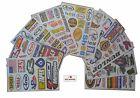 10 sheets  ATV  Bike Snowmobile  Helmet  Motorcycle Stickers Decal Kit  #SX10