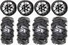 """STI HD7 14"""" Wheels Black 26"""" Moto MTC Tires Textron Wildcat XX"""