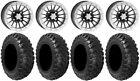 "ITP SD Beadlock 14"" Wheels 28"" Kanati Mongrel Tires Textron Wildcat XX"