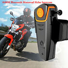 1000M BT Bluetooth Motorcycle Bike Rides Interphone Helmet Intercom Headset+FM