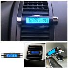 Car Air Vent Clip Stick On Electronic Clock + Thermometer Digital LCD Display