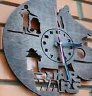 Wall Clocks Home Gift Engraved Wooden Decorative Silent Indoor Rustic Country