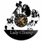 Lady & Tramp Watch Vinyl Record Wall Clock Living Room Home Decor Art Gift Idea