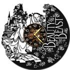 Beauty Beast Watch Vinyl Record Wall Clock Living Room Home Decor Art Gift Idea