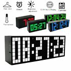 Nightlight Big Screen Large Jumbo Calendar LED Digital Temperature Alarm Clock