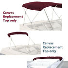 "BIMINI TOP BOAT COVER CANVAS FABRIC BURGUNDY W/BOOT FITS 3BOW 72""L 46""H 73""-78""W"
