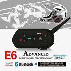 E6-1200M Bluetooth Motorcycle Helmet Interphone Kit 6 Riders BT Walkie Talkie KZ