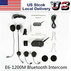 E6-1200M Motorcycle Interphone Motorbike Intercom Kit For Riders Headset KZ