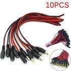 12V DC Power 5.5x2.1mm Pigtail Male Female Cable Plug CCTV Camera LED Lights BR