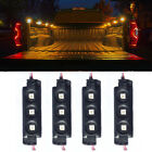 4Pcs Yellow 12LED Pickup Truck Cargo Strip Lights Interior Decorative Rock Light