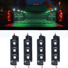 4Pc Green 12 LED Pickup Truck Cargo Strip Lights Interior Decorative Rock Lights