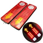 2X 12V LED Trailer Car Rear Tail Brake Stop Turn Light Indicator Reverse Lamp