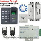 USA ZKTeco Fingerprint+RFID Card Door Access Control System+Drop Bolt Lock TOP