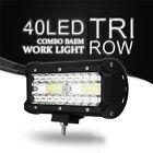7inch LED Work Light Bar Spot Flood Combo Driving Light Truck SUV Off-Road Lamp