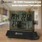 Hygrometer Thermometer Digoo DG-TH1001 Wireless Transparent Screen Clock
