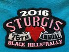 76th Annual STURGIS Motorcycle Rally 2016 - Black Hills South Dakota-NEW Patch h