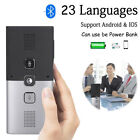 Smart Bluetooth 4.2 Wireless Real Time Voice 23 Languages Translator Power Bank