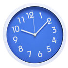 10inch Silent Clock Non Ticking Quartz Wall Clock Home Office Decor Blue