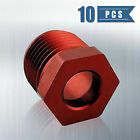 10PCS for HONDA Billet Alum Locker Nut AQUATRAX Steering Trim Reverse Cable Red