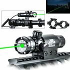 Tactical Rifle Gun Scope Rail Green Dot Laser Sight + Remote Switch for Hunting