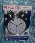 New In Package Sharp Twin Bell Quartz Alarm Clock