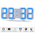 New Modern Blue Digital LED Clock Snooze Alarm Clock Dimmable 3D Display Timer