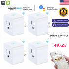 4 Pack WiFi Smart Plug Timing Adapter Outlet Socket Works with Amazon Alexa USA