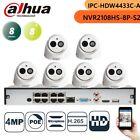 Dahua 8CH HD CCTV SECURITY KIT NVR2108HS-8P-S2 4MP IPC-HDW4433C-A IP Camera Mic