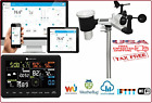 10 in1 Wi-Fi  Internet Monitoring Professional Weather Station LCD Color Display