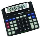 Victor 1200-4 12 Digit Professional Desktop Calculator, Black