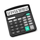 Calculator, Splaks Standard Functional Desktop Calculator Sola and AA Battery...