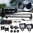"25"" Flood Spot 162W LED Bar light Mount bracket Fit Chevrolet Colorado Jeep"