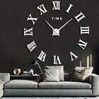 FASHION in THE CITY Mirror Surface 3D DIY Wall Clocks Modern Design Room