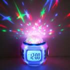 Kids Music Led Star Sky Projection Digital LCD Alarm Clock Calendar Thermometer