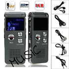8GB USB Flash Digital Voice Recorder Rechargeable Audio Dictaphone MP3 Player