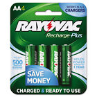 Rayovac Recharge Plus NiMH Batteries AA 4/Pack PL7154GEND
