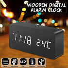 Digoo Wooden Voice Control Digital Alarm Clock Multifunctional Display Timer---
