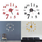 Fashion DIY Large 3D Number Mirror Wall Stickers  Watch Home Decor Art Clock BH