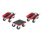 Snowmobile Dolly Set System 2 Ski Dollies 1 Track Dolly Swivel Casters