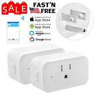 2X Wifi Smart Plug Remote Control Outlet Socket Work with Alexa&Google Assistant