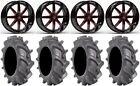 """Fuel Maverick Red 18"""" Wheels 35"""" BKT AT 171 Tires Can-Am Maverick X3"""