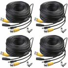 Masione 4 Pack 100Ft Bnc Video Power Cable Security Camera Wire Cord For Cctv Dv