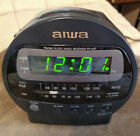 AIWA FR-A37 AM/FM Alarm Clock Radio – Black – Preowned – Tested/Works