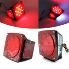 White/Red LED Stop Turn Tail Brake License Light kit Camper Truck Trailer Boat