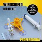 Auto Glass Repair Kit Chips Crack Resin Sealer Windshield Automotive Windscreen