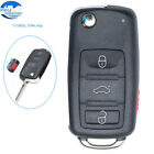 Flip Remote Car Key Fob 3 Button + Panic 315MHz ID46 Chip for Volkswagen Touareg