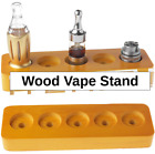 5 Holes Wood Vape Stand Display Vapor A tomizer Mod E-Cig Organizer 25mm Hole