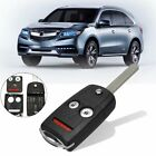 For Acura Honda 3Button Car Remote Key Flip Fob Shell Case Entry #N5F0602A1A