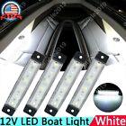 4x Marine Grade 12 volt Large Waterproof Cool White LED Courtesy Lights